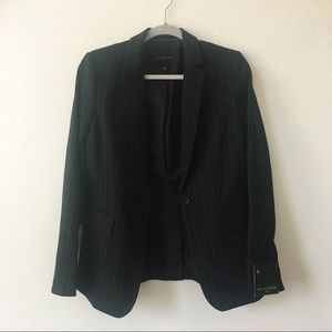 Banana Republic Pinstriped Stretch Knit Blazer